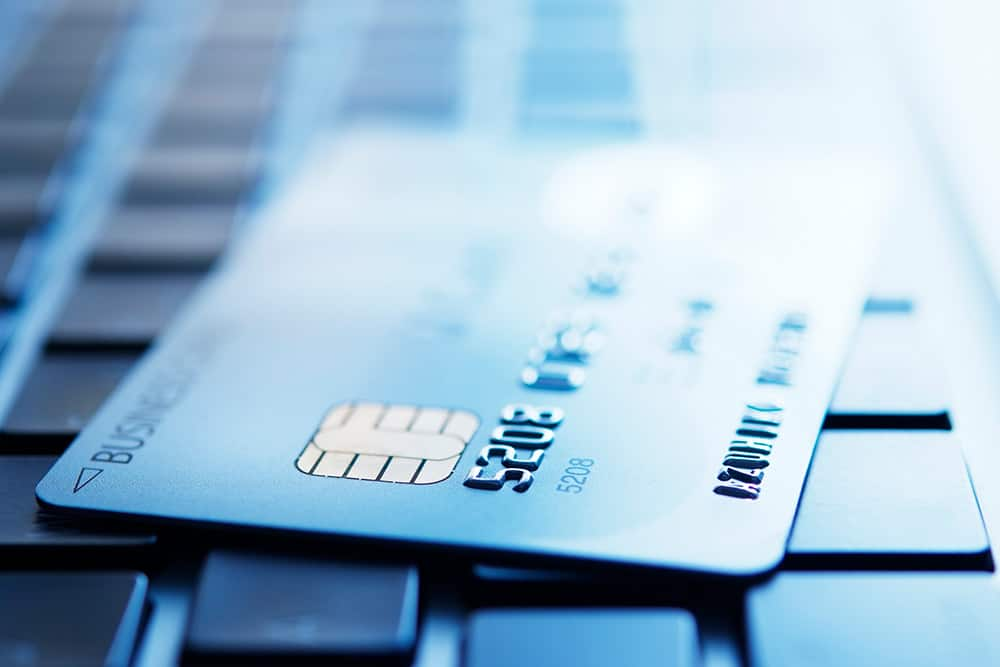 close up shot of a credit card